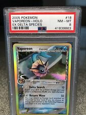 POKEMON PSA 8 VAPOREON HOLO EX DELTA SPECIES GRADED 19/113 CARD