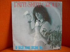 VINYL 45 T – PATTI SMITH GROUP : FREDERICK – PUNK ROCK NEW WAVE – 1979 FRENCH