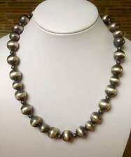 "Santo Domingo ""Pearls"" Sterling Silver Necklace 19.5"" - Chimney Butte"