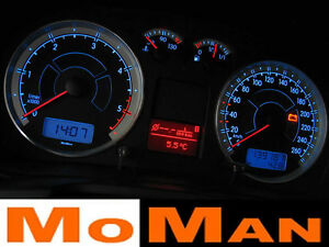 VW Golf MK4 plasma tacho glow gauges tachoscheiben dials Volkswagen indiglow