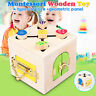 Wooden Montessori Lock Box Practical Early Education Children Kids Toy 4