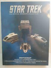Star Trek Starships collection Shuttlecraft Set 1 EAGLEMOSS Rare