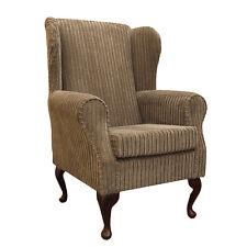 Bark Jumbo Cord Wing Back Orthopaedic Fireside Chair - NEW