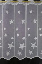 m/€ 10,00 Scheibengardine Gardine Bistrogardine 021/565 60cm hoch Stern Sterne