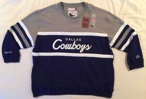 Mitchell & Ness Dallas Cowboys NFL Throwback Sweater - Men's 4XLB (4XL Big)
