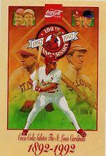St. Louis Cardinals 100th Anniversary CoCa-Cola post card