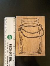Raindrops on Roses Rubber Stamp-Glass Jar