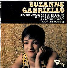 SUZANNE GABRIELLO Les potins d'abord 1965 Chanteuse Yé-Yé parodie BIEM Languette