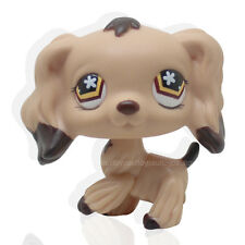 Rare #575 Littlest Pet Shop LPS Brown Dipped Ears Flower Eyes Cocker Spaniel Dog