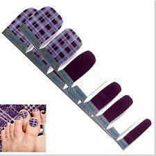 Jaysea Nails Pedicure Polish Strips - Color Purple Plaid Street Art - B4G1 Free!