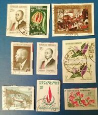 10 Used Gabon Stamps