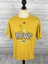 ADIDAS LA Lakers MVP T-Shirt-Taglia XL-GIALLO-OTTIME CONDIZIONI