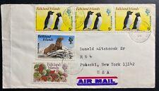 1974 Port Stanley Falkland Island Airmail cover To Pulaski NY USA