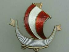 Enamel Silver Vintage Costume Brooches/Pins