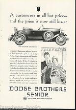 1929 Dodge Brothers advertisement, DODGE Senior Roadster 2-door with rumble seat
