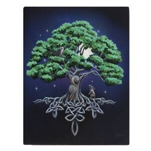 TREE OF LIFE SMALL CANVAS PICTURE ART PRINT LISA PARKER CELTIC KNOT RABBIT ROOTS