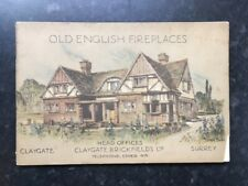 Old English Fireplaces & Sundials 1932 D Series Claygate Brickfields PBK edition