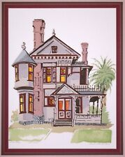 Artists Proof Serigraph Print by Susan McClure Laguna Beach CA Hale House