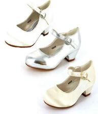 Calzado de niña de plata de color principal blanco