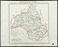 1802 - Antique Map Department of the Aveiron (Aveyron) of Chanlaire