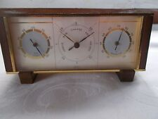 Vintage Weather Station Barometer Germany Brass Mantel Hygrometer
