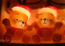 10 - Blowmold TEDDY BEAR String LIGHT Set -  Vintage House of Lloyd 1987