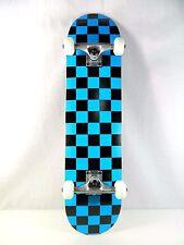 "Blank Checker Blue Complete 7.75"" Skateboard 7ply Maple Deck 5.0Truck 52mm Wheel"