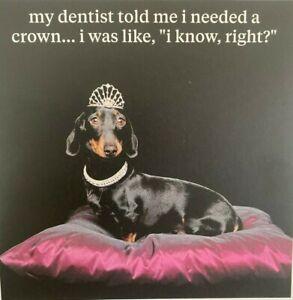 SAUSAGE DOG BIRTHDAY CARD DOG DESIGN BLANK INSIDE DACHSHUND CARD