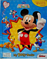 DISNEY MICKEY MOUSE CLUBHOUSE,MY BUSY BOOKS,W/ STORYBOOK,12 FIGURES,& PLAYMAT,3+