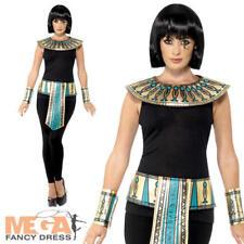 KIT Egiziano Adulti Costume paraoh CLEOPATRA COLLARE Polsini Cintura Costume Set
