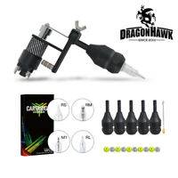 Dragonhawk Tattoo Rotary Machine Silent Gun Motor Shading Lining Grips Needles