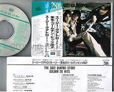 SUZI QUATRO Story-Golden Hits JAPAN CD 2,627JPY w/Green Line OBI CP28-1030 FreeS
