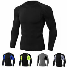 Men's Athletic Compression Top Workout Gym Running Long Sleeve T Shirt Quick-dry