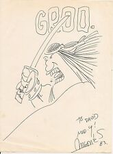 Sergio Aragones Original Sketch Drawing 1983 Groo the Wanderer PSA Authenticated
