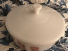 Federal Glass Casserole Serving Bowl Set with Lid WHITE 3.5 Quart 1 QT F USA