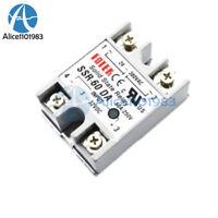 24V-380V 60A 250V SSR-60 DA Solid State Relay Module 3-32V DC To AC