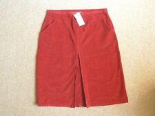 Rowlands of Bath Red Needlecord Corduroy Skirt - Size 22 BNWT