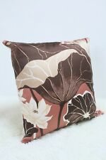"Original Retro Sanderson Fabric Cushion Cover 60s/70s 18x18"" Vintage Brown"