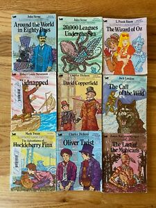 Lot of 9 Vintage MOBY ILLUSTRATED CLASSICS Books - Small Size!