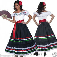 CL227 Western Senorita Costume Mexican Spanish Dancer Flamenco Spain Fancy Dress