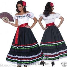 CL227 Western Senorita Costume Mexican Spanish Dancer Flamenco Spain Fancy Dress