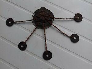 RARE Amulette en Sapèques CHINE 19E. Était fixée au dessus d'un berceau.