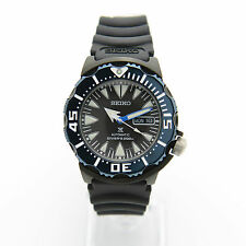 Seiko Prospex SRP581K1 Blue Case 200M Monster Black Resin Automatic Men's Watch