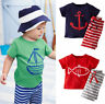 Fashion Toddler Kids Baby Boy Clothes T-shirt Tops Pants Outfits 2Pcs Set Summer