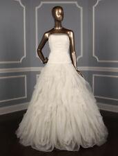 NEW Pronovias Dorado Strapless Lace Tulle Wedding Dress Off White Size 12 $2,425
