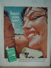 1964 Newport Menthol Filter Cigarettes Young Couple Color Vintage Print Ad 10388