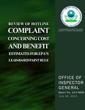 Review of Hotline Complaint Concerning Cost and Benefit Estimates for EPA's...