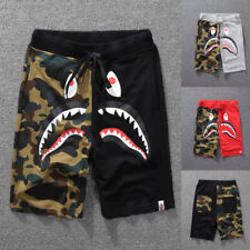 Bape/A/Bathing Ape Shark Head Shorts Camo Sweatshorts Beach Men's Short/Pants