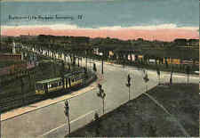 Lille France France AK ~ 1914/18 boulevard roubaix tourcoing tramway tram