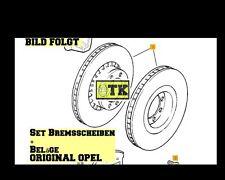 ORIGINAL OPEL Bremsen Kit Bremsscheiben + Bremsbeläge Calibra Vectra Astra Set